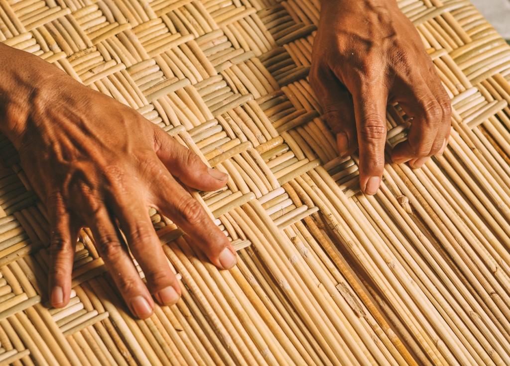 traditional rattan weaving